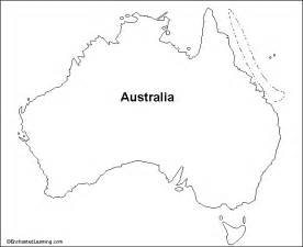 Australia Outline Map by Outline Map Research Activity 1 Australia Enchantedlearning