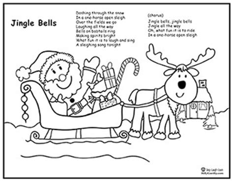 coloring page one open sleigh one open sleigh coloring sheet preschool coloring pages