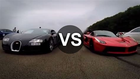 Lamborghini Vs Bugatti Vs Race Laferrari Vs Bugatti Veyron Drag Race