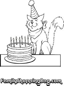 birthday cat coloring page cat and cake birthday coloring pages free printable