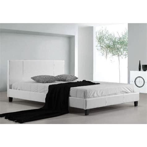 palermo bed frame palermo size pu leather bed frame in white buy