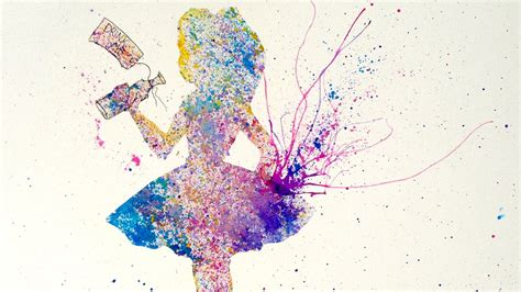how to splatter acrylic paint on a canvas in easy acrylic splatter painting the