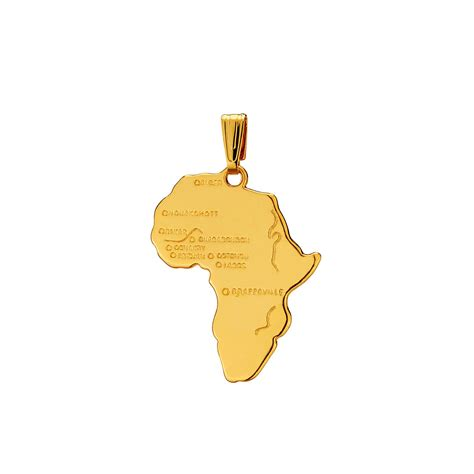 africa map necklace 18k africa map pendant 18k pendant1610030 buy 18k africa