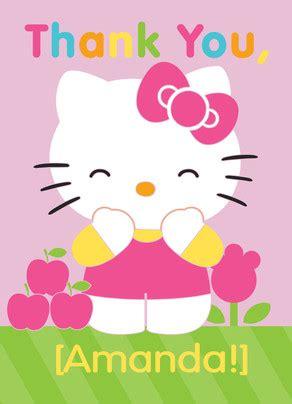 printable hello kitty thank you cards hello kitty thank you thank you card cardstore