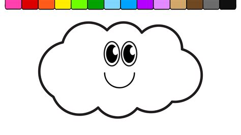 color and learn rain coloring pages clouds go digital with us 994c3420363a