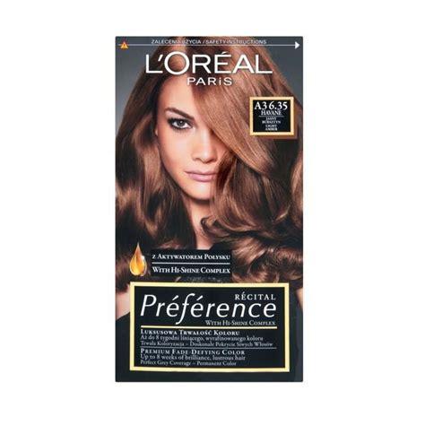 l39oreal preference hair dye 3 l or 233 al r 233 cital pr 233 f 233 rence hair dye a3 6 35 havane