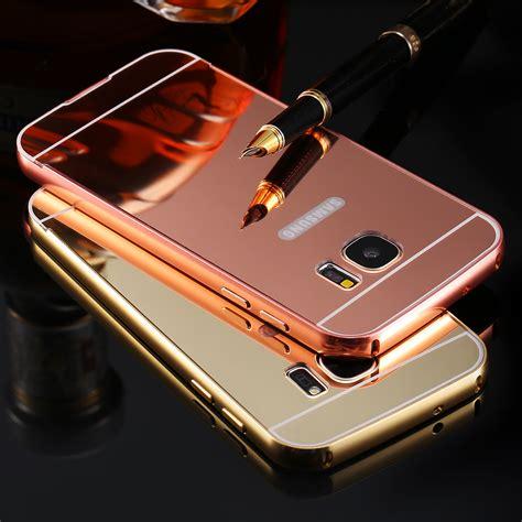 Casing Mirror Samsung Galaxy E5 Mirror Aluminium Back Pc Bumper kisscass luxury mirror cover aluminum metal acrylic for samsung galaxy s5 s6 s7 edge s4