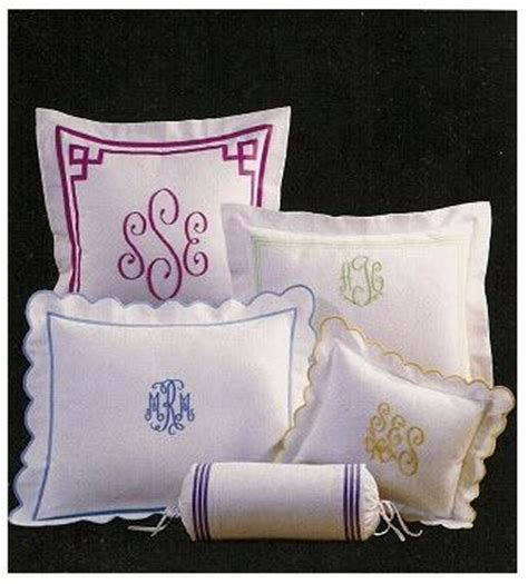 monogrammed bed pillows monogrammed neckroll from jane wilner collection