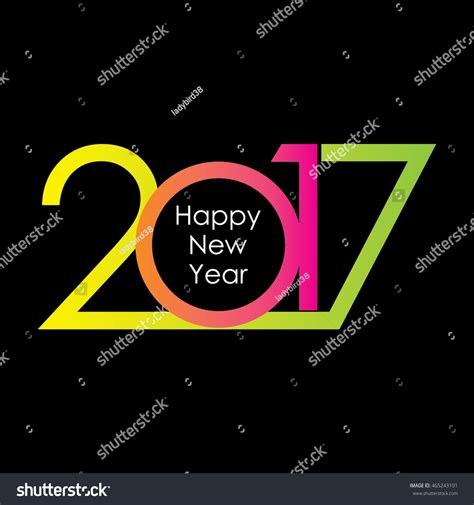 happy new year 2017 text happy new year 2017 text design vector 465243101
