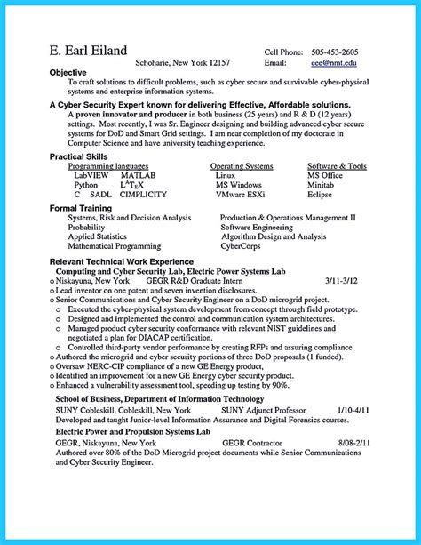 Entry Level Security Resume by Entry Level Cyber Security Resume Resume
