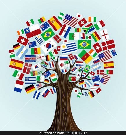 flags of the world dress flags of the world tree great idea for kindergarten