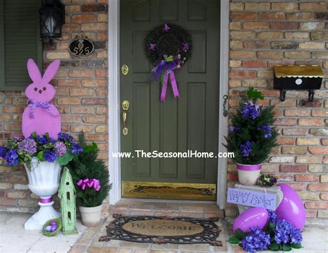spring decorating ideas for your front door guest post make large peep topiaries from the seasonal