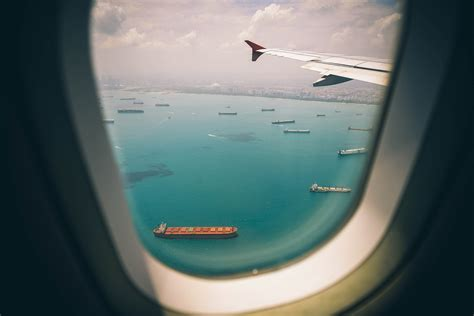boat view images boats sea view from airplane window hd nature 4k