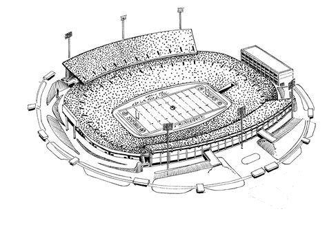 coloring pages football stadium stadium drawing gallery