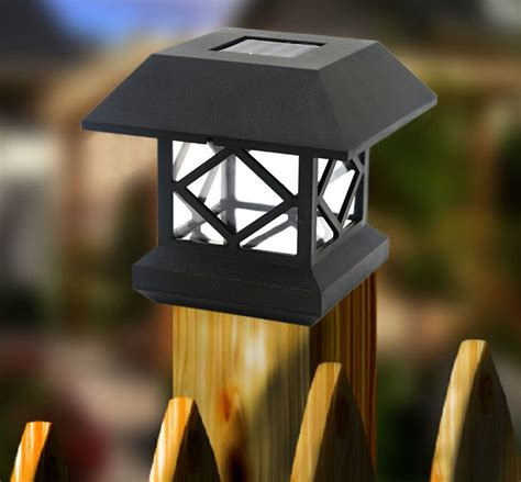 wooden solar lights new outdoor solar power led wooden fence lights column