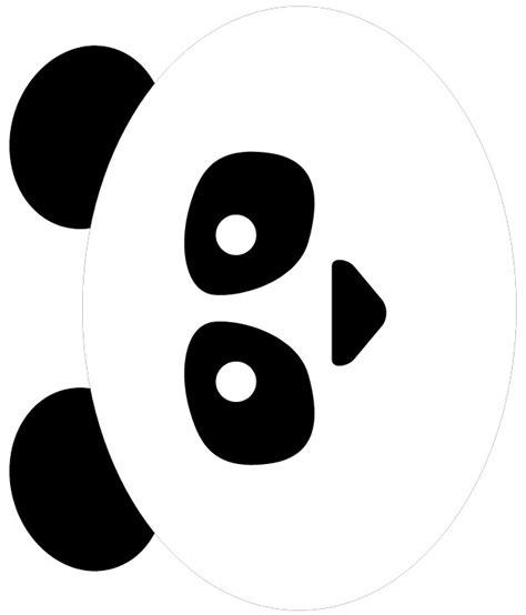 printable panda mask template tissue paper panda bear
