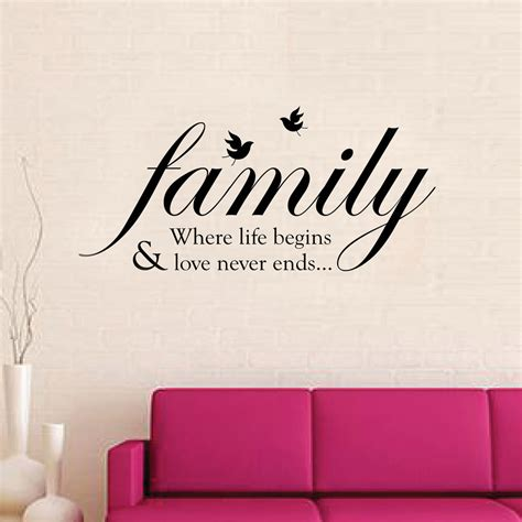 family quote wall stickers family wall quote stickers mural decal paper decoration ebay
