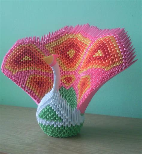 3d Origami Software - 3d origami peacock by anikobg on deviantart