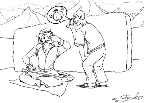 spring scene coloring pages