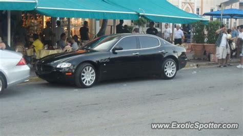 Maserati Miami by Maserati Quattroporte Spotted In Miami Florida On