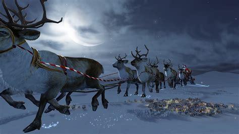 wallpaper christmas reindeer 1920x1080 rudolph santa claus reindeer deer snow 3d