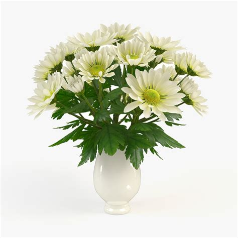 Chrysanthemum Vase by 3d Model Vase Chrysanthemum