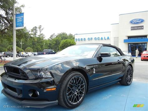 black mustang gt500 2013 black ford mustang shelby gt500 svt performance