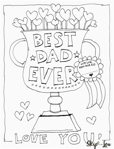fathers day coloring sheets free printable coloring page for s day this