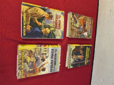 vintage hardy boys book lot four books by lot detail four vintage hardy boys books