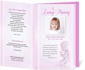 For Child Baby Memorial Service Programs Letter Single