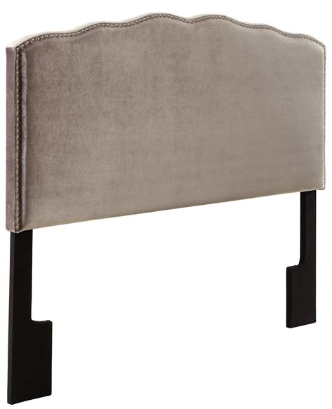 nailhead king headboard velvet shimmer nailhead shaped king upholstered headboard
