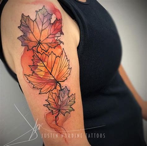 fall leaves tattoo best 25 fall leaves ideas on autumn