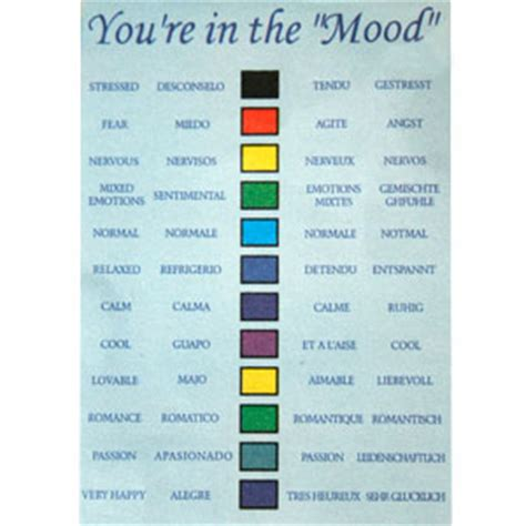 mood color chart pin mood ring chart color colors on pinterest