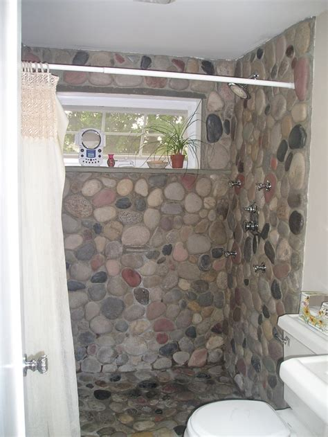 river rock bathroom ideas 17 best ideas about river rock shower on pinterest