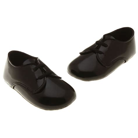 lace up baby boys black patent shoes cachet