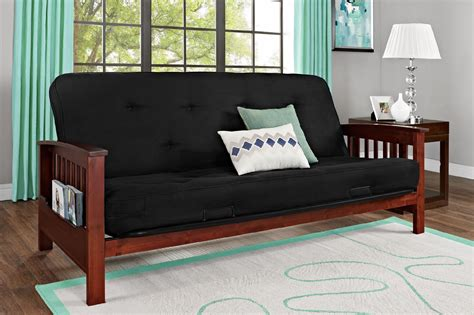 Essential Home Futon by Essential Home Heritage Convertible Futon With Cherry Wood