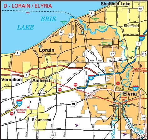 map of lorain ohio cities11