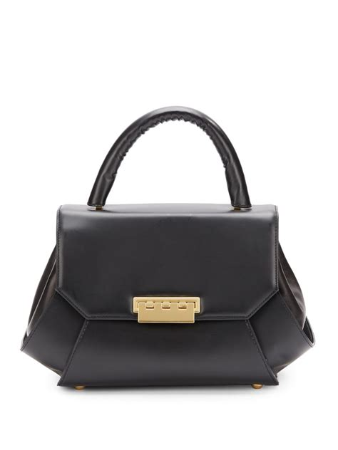 Zac Posen Purse by Zac Zac Posen Leather Top Handle Bag In Black Lyst