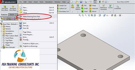 Create Drawing From Part Solidworks solidworks technical tips solidworks solidworks