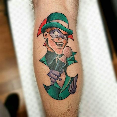 riddler tattoo from gooneytoons riddler i did on the weekend