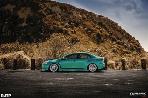 stanced mitsubishi lancer stanced mitsubishi lancer x 187 cartuning best car tuning