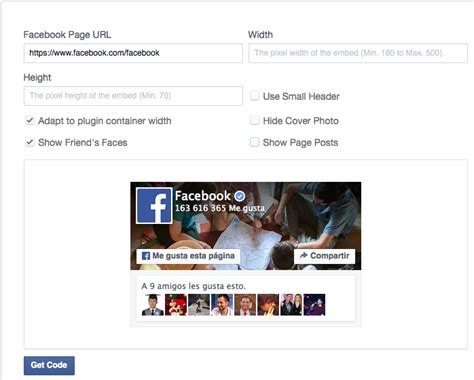 facebook fan page plugin facebook fan box pon en tu web el plugin like box