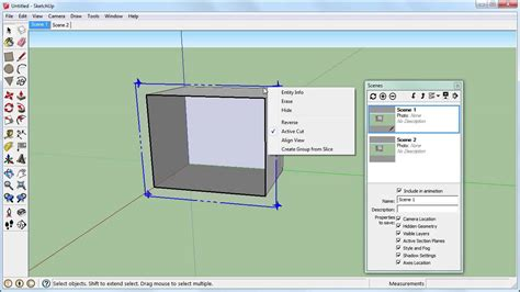 sketchup sections sketchup section planes cut view and scenes youtube