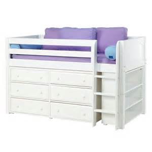 Bed And Dresser Box Low Loft Bed With Dressers And Bookcase