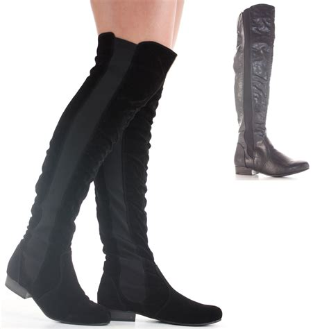wide calf thigh high heel boots knee flat thigh high winter low heel wide calf