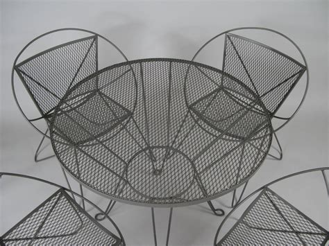 vintage woodard wrought iron patio furniture vintage 1960s wrought iron garden table and chairs by