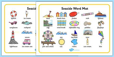 new year story word mat seaside word mats writing aid the sea sea seaside