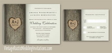 Wedding Invitations Tree Theme by Tree Wedding Invitations Vintage Rustic Wedding Invitations