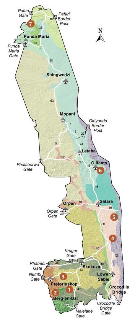 kruger national park map kruger park walking trails map