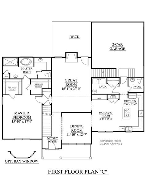 House Plan 2675 C Longcreek Quot C Quot First Floor Traditional 2 Story House With 4 Bedrooms